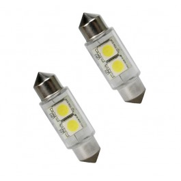 Bec auto Led 9 SMD C5W T11X31 2 MM 12V alb sofit Festoon
