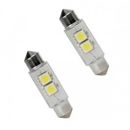 Bec auto Led 2 SMD C5W T11X44 2 MM 12V alb sofit Festoon