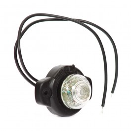 Lampa gabarit auto BestAutoVest 12V rotunda Alba cu led, cu suport 57x41.4x26.8mm, 1 buc.