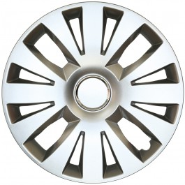 Set capace roti 15 inch tip Renault, culoare Silver 15-324