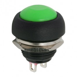 Buton 1 circuit 1A-250V OFF-(ON), verde, set 5 buc