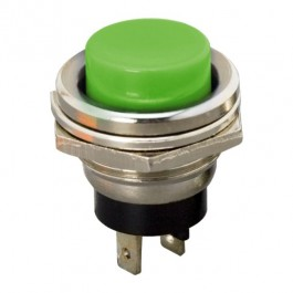 Buton 1 circuit 2A-250V OFF-(ON), verde, set 5 buc