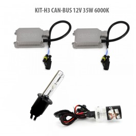 Kit HID xenon H3 Can-Bus 12V 35W 6000K
