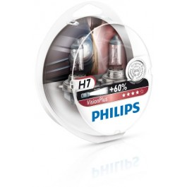 Becuri auto H7 12V 55W Philips Vision Plus +60% 12972VPS2 Set 2 becuri far