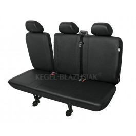 Husa bancheta microbuz 3 locuri cu spatar rabatabil din piele ecologica pentru Jumper Jumpy Fiat Ducato Scudo Ford Transit Iveco daily Sprinter Vito Nissan Opel Movano Vivaro Peugeot Boxer Expert Renault Master Trafic VW Caravelle LT T