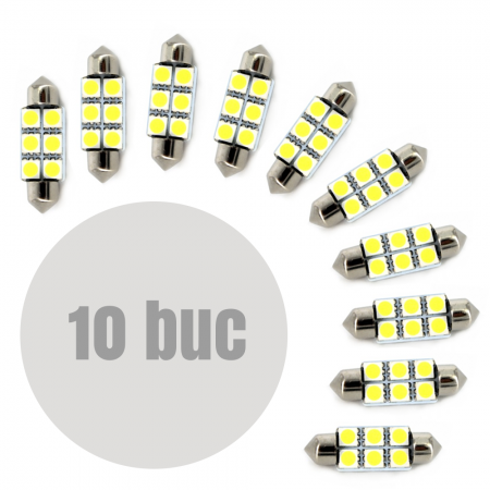 Bec auto Sofit SV8.5 LED SMD 39mm 12V 1.5W, set 10 buc.
