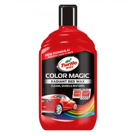 Solutie polish auto Turtle Wax Color Magic Plus Rosu 500ml