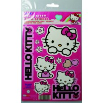 Abtibild Hello Kitty, set stickere auto