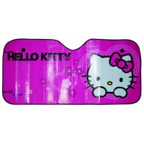 Parasolar parbriz Hello Kitty, folie aluminiu 130x60 cm