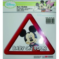 Abtibild pentru luneta Mickey Mouse Baby on Tour, stickere auto