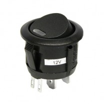Intrerupator auto Carpoint 12V 20A rotund diametru 20mm , On/Off cu led