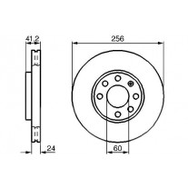 Disc frana BOSCH 0986478881 fata Opel Astra G Caroserie (F70) Astra F Classic Combi Astra G Cabriolet (F67) Astra G Limuzina (F69) Astra G Hatchback (F48, F08) Astra G Combi (F35) Astra G Cupe (F07)