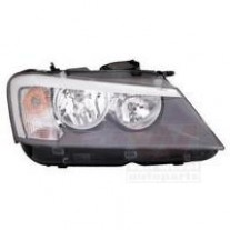 Far Bmw X3 (F25), 11.10-, electric, tip bec H7+H7, are motoras, omologare ECE, 63127217288; 7217288, Dreapta