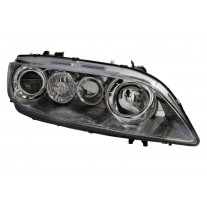 Far Mazda 6 06.2002-04.2005 AL Automotive lighting dreapta fata , tip bec H1+H1, culoare rama argintiu reglaj electric