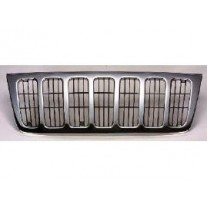 Grila radiator Jeep Grand Cherokee, 05.1999-12.2004, crom, 240605-2