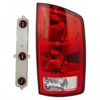 Stop spate lampa Dodge Ram, 01.2002-01.2006, spate, omologare SAE,cu suport bec, tip USA, 55077347AD; 55077347AF, Stanga
