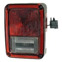 Stop spate lampa Jeep Wrangler (Jk), 07.06-15, spate,omologare SAE, cu suport bec, tip USA, 55077890AC; 55077890AD; 55077890AG, Dreapta