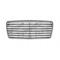 Grila radiator Mercedes W124/Clasa E(Sedan/Coupe/Cabrio/Combi) 1993-06.1996, crom, 1248801083, 501405-4 , 13 bar