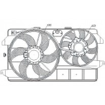 Ventilator radiator Nissens 85263, Ford Tourneo Connect, Ford Transit Connect (P65, P70, P80)