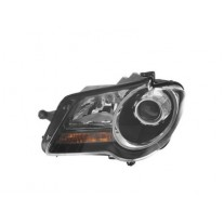 Far Vw Touran (1t2), 01.2007-07.2010, Electric, tip bec H7+H7, omologare ECE, cu motor, negru, 1T1941005C; 1T1941753A, Stanga, marca AL (Automotive Lighting)