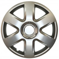 Set capace roti 15 inch tip Renault, culoare Silver 15-337