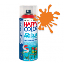 Spray vopsea Portocaliu Ral 2004 HappyColor Acqua pe baza de apa, 400ml