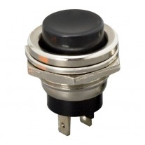 Buton 1 circuit 2A-250V ON-(OFF), negru, set comutator 5 buc.