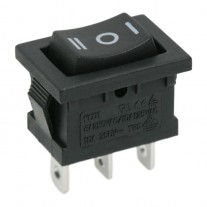 Intrerupator basculant 1 circuit 6A-250V ON-OFF-ON marcaj I-O-II, Set comutatoare 5 buc