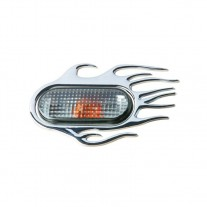 Ornament 3D Flaming crom 118X75mm, pentru seria VAG (Vw Audi Seat Skoda)