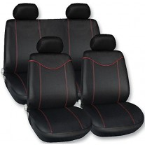 Set huse scaune auto Streetwize Racing Style Red, 11 piese, set fata + spate