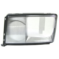 Dispersor sticla far Mercedes Clasa E W124 (Sedan/Coupe/Cabrio/Combi) 1990-1992 , cu rama culoare deschisa, AL Automotive lighting partea Stanga