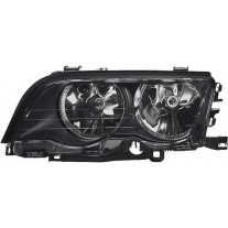 Far Bmw Seria 3 E46 Sedan/Combi 06.1998-09.2001 AL Automotive lighting fata dreapta 200810-U , reflector negru, tip bec H7+H7