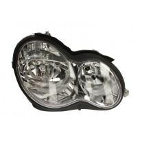 Far Mercedes Clasa C (W203) 01.2003-03.2007 AL Automotive lighting partea Dreapta, tip bec H7+H7, reglaj pneumatic