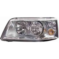 Far VW T5 Multivan 04.2003-10.2009 AL Automotive lighting partea Stanga, tip bec H1+H7, culoare argintiu, fara prinderi panou frontal