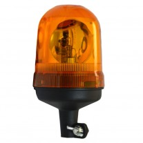 Girofar auto BestAutoVest 12V/24V orange cu bec H1, cu suport tubular, 235/125mm