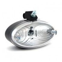 Lampa auto BestAutoVest pentru mers inapoi alba 12/24V 120x65mm tip bec P21W ovala cu suport , 1 buc.