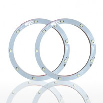 Set 2 leduri auto Angel Eyes LED EVO Formance 12cm culoare alba
