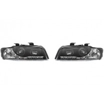 Set faruri tuning Audi A4 11.2000-11.2004 BestAutoVest fata stanga-dreapta day time running light