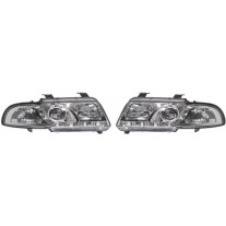 Set faruri tuning Audi A4 Sedan 1999-2000/Avant 1999-2001 BestAutoVest day time running light , negru-transparent