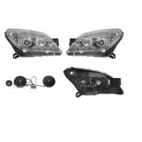 Set faruri tuning Opel Astra H 10.2003-04.2007 BestAutoVest fata stanga+dreapta daytime running light H1+H1 manual , transparent-silver