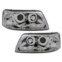 Set faruri tuning VW Transporter (T5)/Multivan 04.2003-10.2009 BestAutoVest partea Dreapta+Stanga daytime running light, tip bec H1+H1, transparent-silver