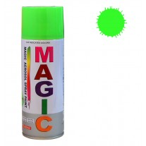 Spray vopsea MAGIC Verde Fluorescent , 400 ml.